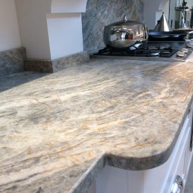 Every slab of granite is beautifully unique and when cut for a work surface creates a hard wearing and practical surface solution.
